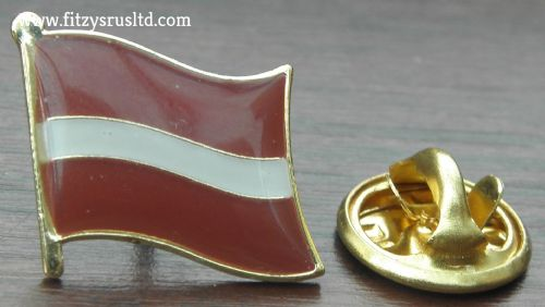Latvia Country Flag Lapel Hat Cap Tie Pin Badge Latvijas Republika New